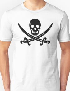 Pirate Logo (Black) Unisex T-Shirt