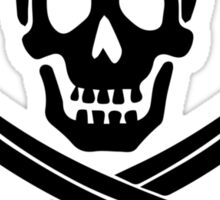 Pirate Logo (Black) Sticker