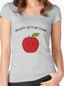 Sad Apple Women's Fitted Scoop T-Shirt