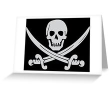 Pirate Logo (White) Greeting Card