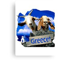 Happy goats in Greece Canvas Print