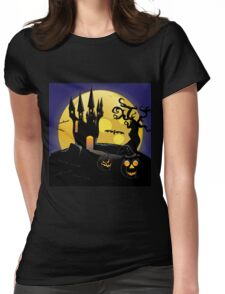 Halloween Castle 3 Womens Fitted T-Shirt