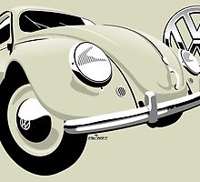 VW Beetle type 1 cream by car2oonz