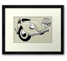 VW Beetle type 1 cream Framed Print