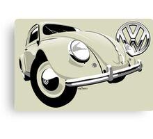 VW Beetle type 1 cream Canvas Print