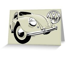 VW Beetle type 1 cream Greeting Card