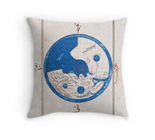 Ancient Egyptian world map Throw Pillow