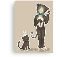 Catlady Love Canvas Print