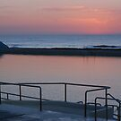 Dawn over Newcastle Baths by Bev Woodman