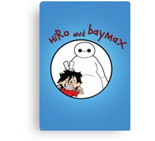 Hiro and Baymax Canvas Print