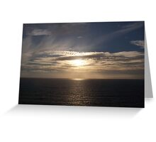 Sundown in Cornwall Greeting Card