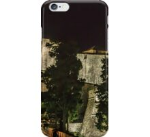 Dubrovnic Fortress and walls at night iPhone Case/Skin