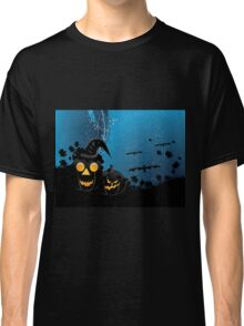 Halloween party background with pumpkins 3 Classic T-Shirt