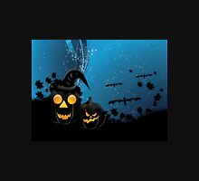 Halloween party background with pumpkins 3 Unisex T-Shirt