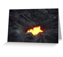 Lave Hole Greeting Card