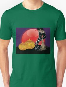 Halloween party background with pumpkins 4 Unisex T-Shirt