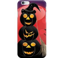 Halloween party background with pumpkins 5 iPhone Case/Skin