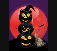 Halloween party background with pumpkins 5 T-Shirt