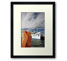 can you let me work in peace please? Framed Print