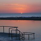 Sunrise Newcastle Baths by Bev Woodman