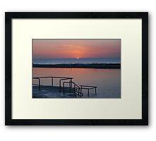 Sunrise Newcastle Baths Framed Print