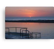 Sunrise Newcastle Baths Canvas Print