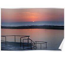 Sunrise Newcastle Baths Poster