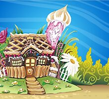 Fantasy Marzipan & Sweets House by aurielaki