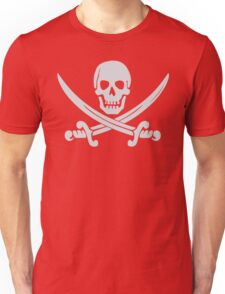 Pirate Logo (White) Unisex T-Shirt