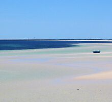 Beach at Moonta Bay by Cathi Norman