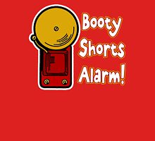 Booty Shorts Alarm! Womens Fitted T-Shirt
