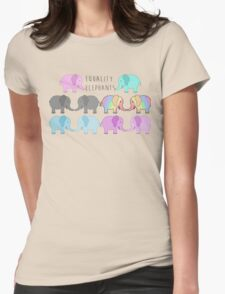 Equality elephants Womens Fitted T-Shirt