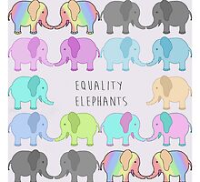 Equality elephants by Jessica Latham