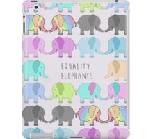 Equality elephants iPad Case/Skin