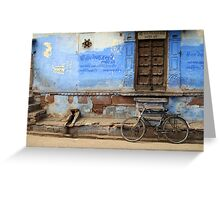 The Blue City Greeting Card
