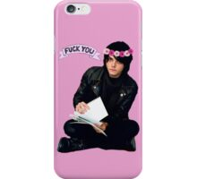 Gerard Way - Fuck You Flower Crowns  iPhone Case/Skin