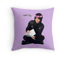 Gerard Way - Fuck You Flower Crowns  Throw Pillow