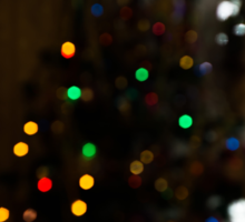 Bokeh of Christmas Tree 4 Sticker