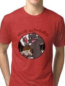 Hiccup and Toothless Tri-blend T-Shirt