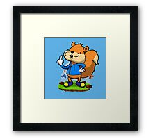 A very bad fur day. Framed Print