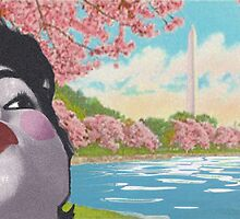 kissing in spring by greenrosestorm