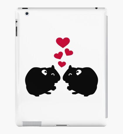 Hamster love red hearts iPad Case/Skin