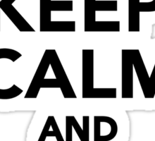Keep calm and love Hamster Sticker
