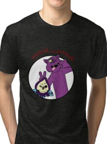 Skeletor and Panthor Tri-blend T-Shirt