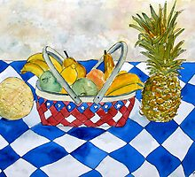 fruit basket still life 5  by derekmccrea