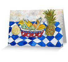 fruit basket still life 5  Greeting Card