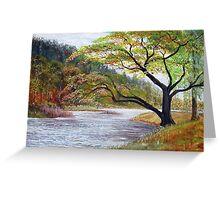 River Tweed below Yair Hill  Greeting Card