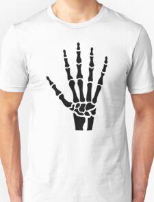 Skeleton hand finger Unisex T-Shirt