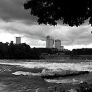 Clouds over Niagara Falls by Béla Török