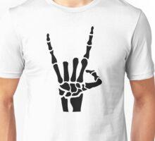 Skeleton rock hand Unisex T-Shirt